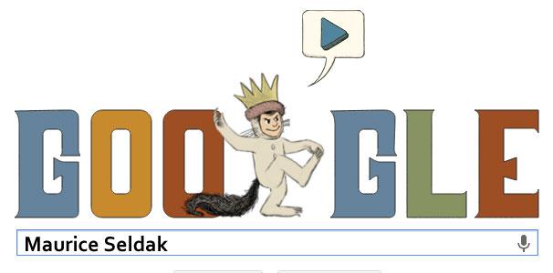 Maurice Sendak Google Doodle (10. Juni 2013)