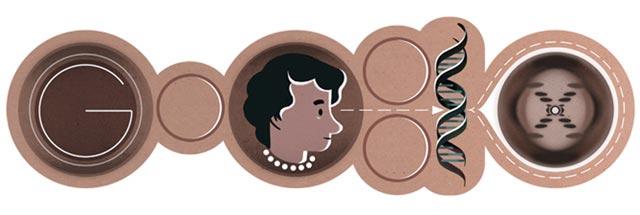 Rosalind Franklin Doodle (93. Geburtstag)