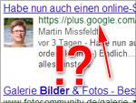 Google Plus in der Suche