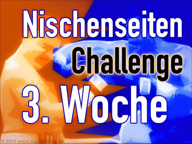 Nischenseiten-Challenge 3. Woche