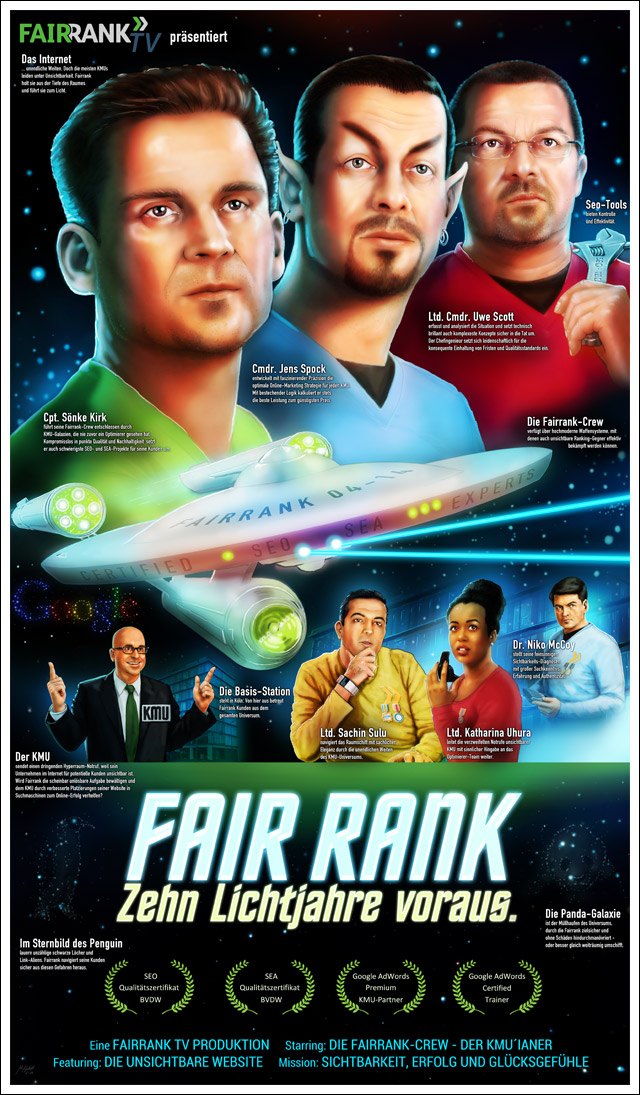 Fairrank Poster zum 10 jährigen Jubiläum