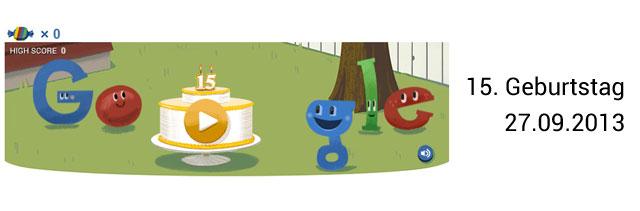 Google Geburtstag Doodle 15