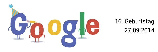 Google Geburtstag Doodle 16