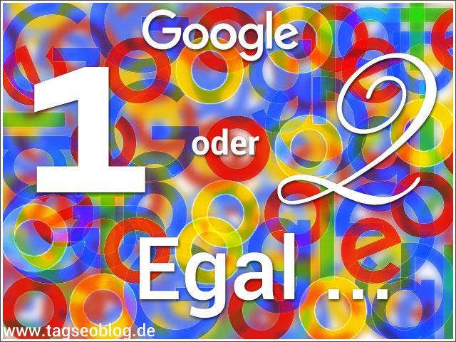 Google Index - 1 oder 2? Egal ...