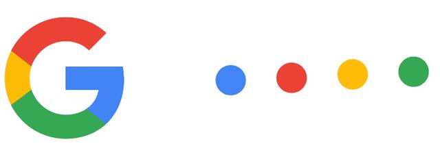Google Logo Familie: links das G, rechts die vier Punkte
