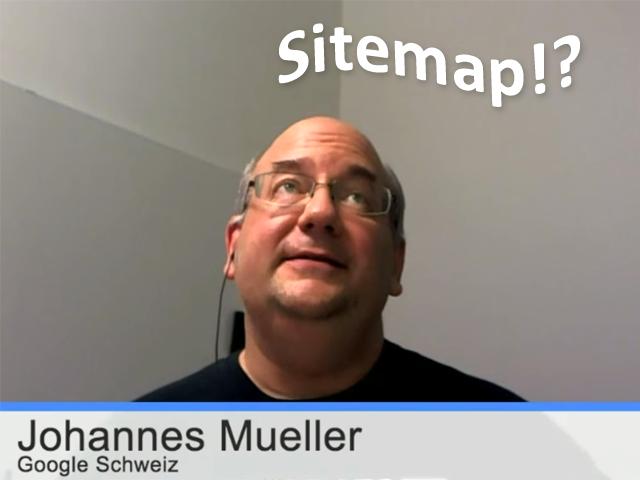 John Müller über Sitemaps