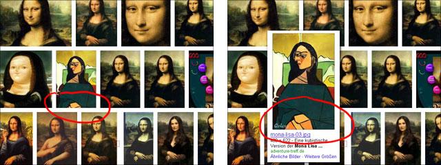 Neue Google Bildersuche: Thumnbails teilweise beschnitten