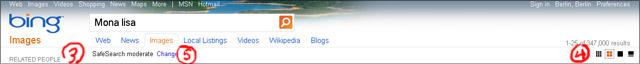 Bing-Bildersuche Navigation (alt)