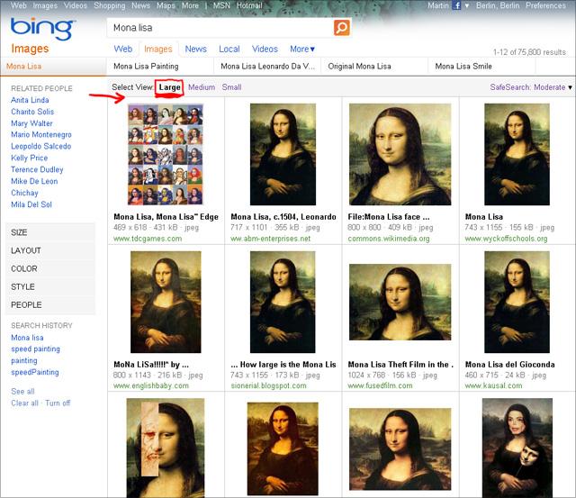 Bing Bildersuche - Select View: Large