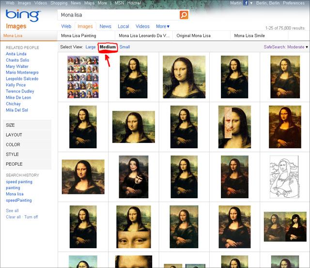 Bing Bildersuche - Select View: Medium