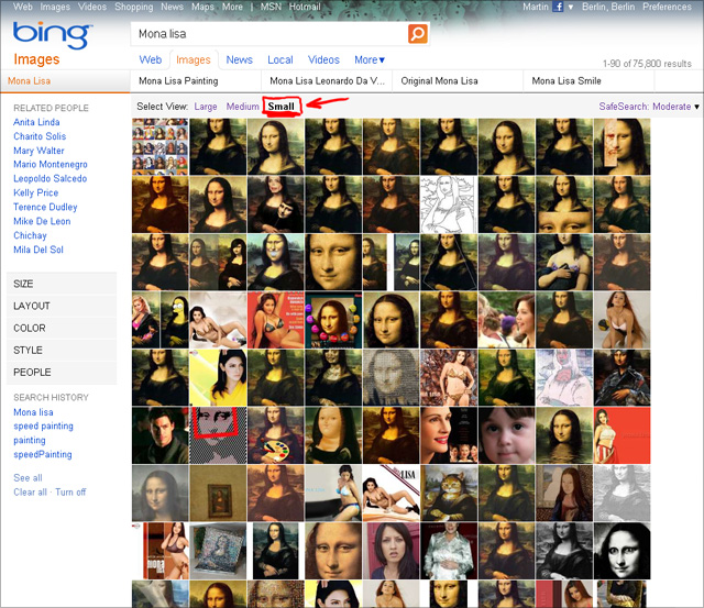 Bing Bildersuche - Select View: Small