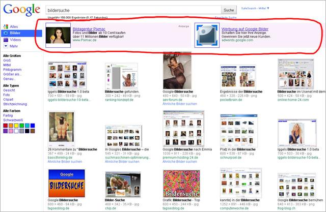 Google Adwords mit Bild in der Bildersuche