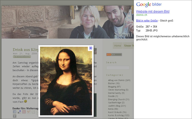 Google Bildersuche Frameset neu (rechts)