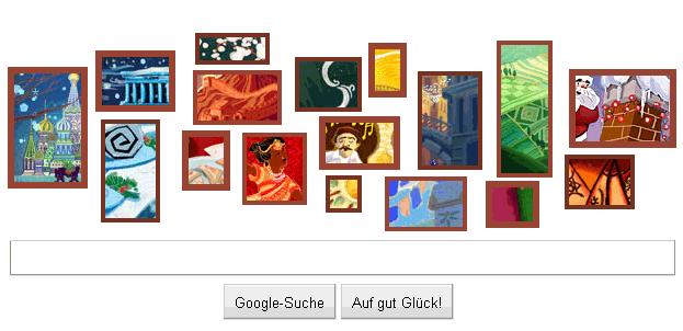 Weihnachtsbilder Google Doodle zu Weihnachten 2010