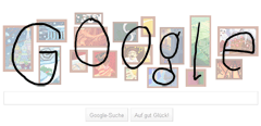 Weihnachtsdoodle Google-Schriftzug