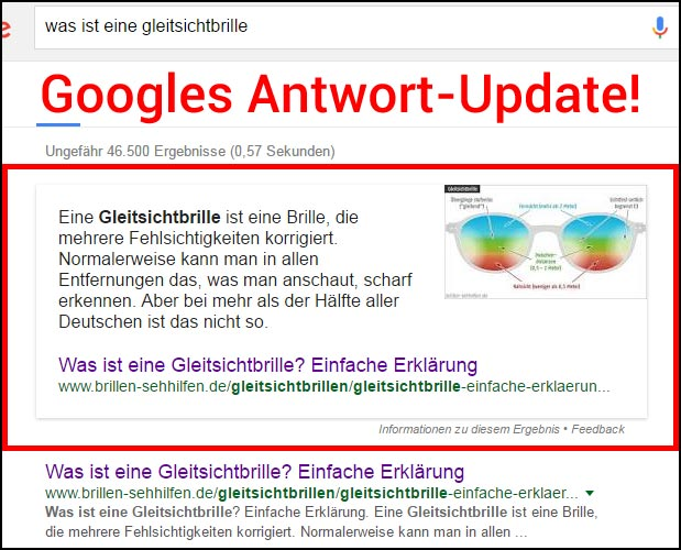 Googles Antwort-Update (?)