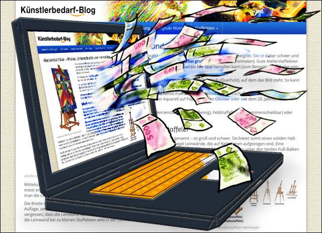 Künstlerbedarf-Blog mit affiliatetheme