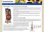 Künstlerbedarf-Blog mit affiliatetheme.io