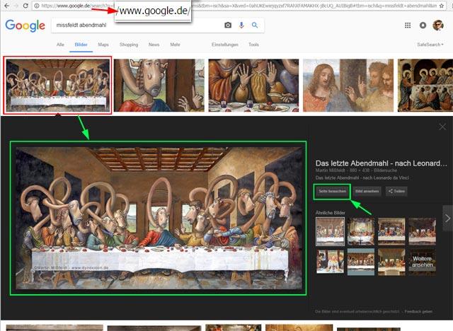 Neue Google Bildersuche in Deutschland