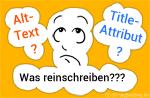 Alt-Text / Title-Attribut - was hineinschreiben?