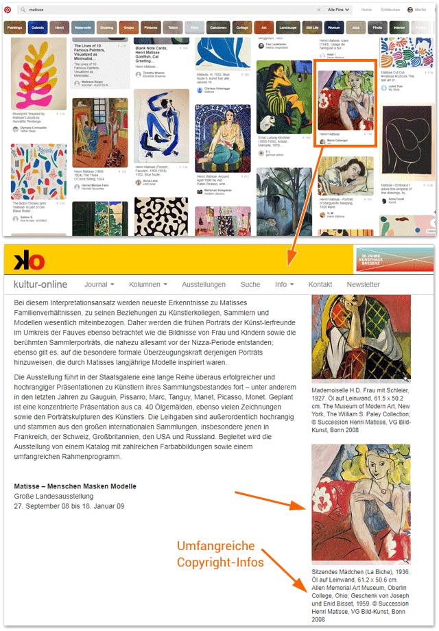 Matisse bei Pinterest