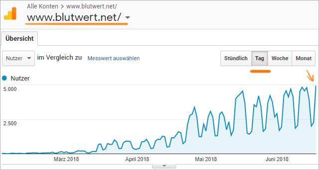 Besucher-Statistik von Blutwert.net