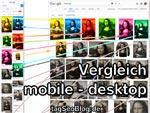 Google Bildersuche: Vergleich mobile und Desktop