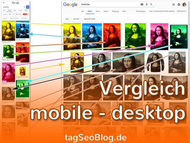 Google Bildersuche 2018 - Vergleich mobile und Desktop (Teaserbild)