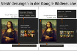 Veränderungen in der Google Bildersuche