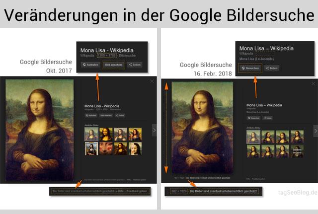 (Kleine) Veränderungen in der Google Bildersuche