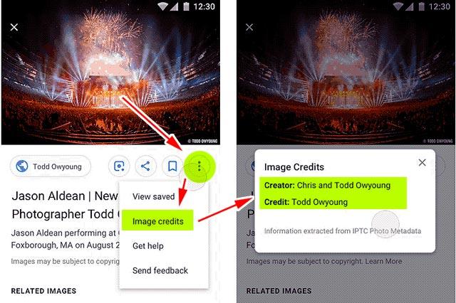 Google Images zeigt nun Copyright-Informationen (Meta-Data)