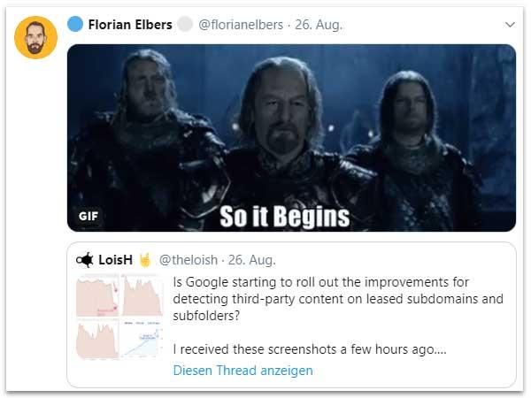 """""""Google-Subdomain-Folder-Update"""" ??? Hätte gravierende Auswirkungen ..."""