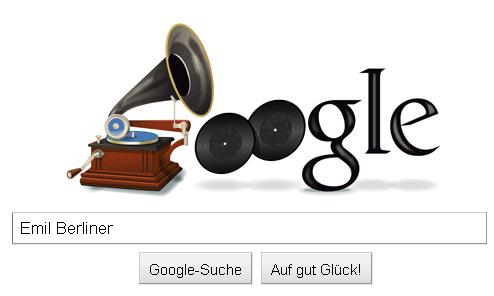 Google-Doodle zu Ehren des Erfinders Emil Berliner