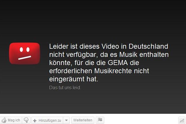Gema: Video leider nicht verfügbar