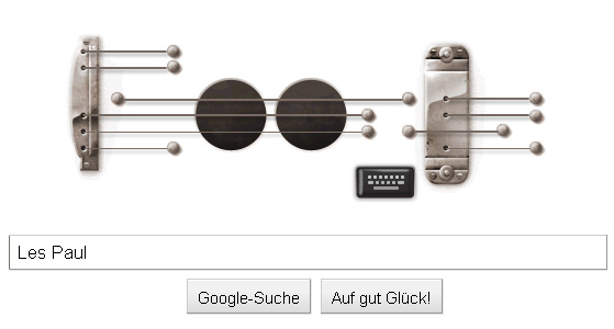 Les Paul - interaktives Gitarren-Doodle
