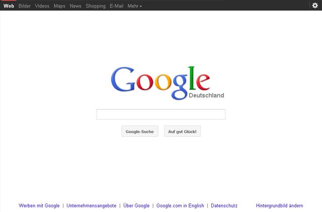 Neue Google Startseite: Schicke redesign - Konzentration auf das Wesentliche