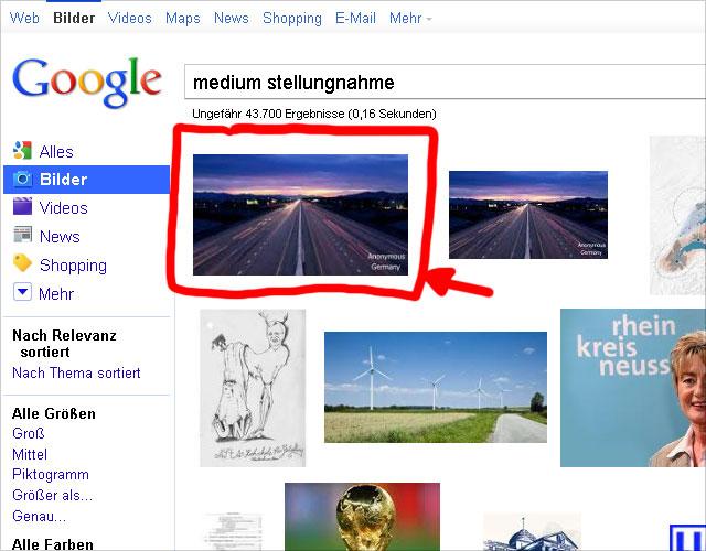 Google Bildersuche (Screen 2): das selber Bild ohne Altersangabe