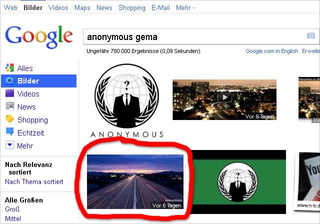 Google Bildersuche (Screen 1): Bild mit Altersangabe