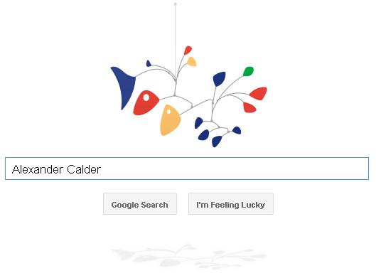 Alexander Calder Mobile Doodle - mit Schatten!