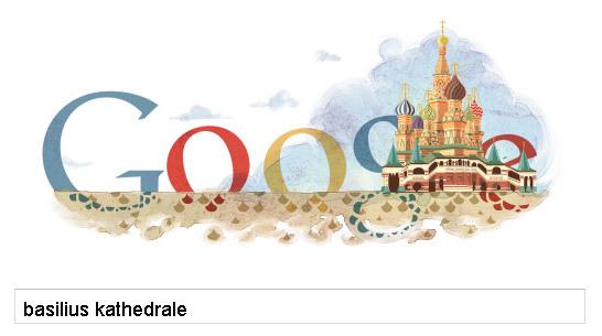 Google-Doodle: Basilius Kathedrale in Moskau