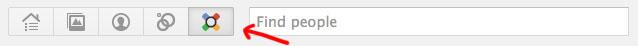 Google+ Games : Button in der oberen Navigationsleiste