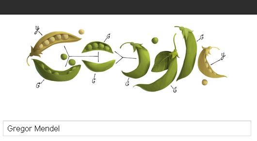 Gregor Mendel Google Doodle