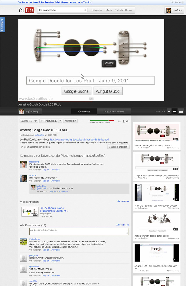 youTube Testdesign: Cosmic Panda