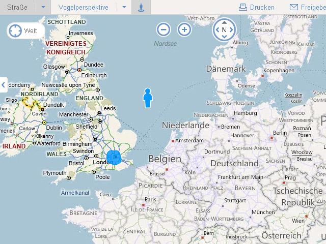 Bing maps: Europe