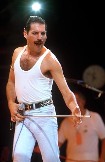 Freddie Mercury auf der Bühne