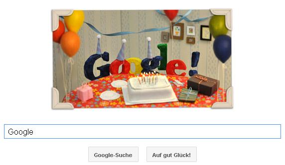 Google Doodle zum 13. Geburtstag von Google
