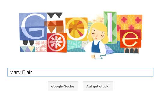 Mary Blair Google Doodle - Farbenfroh, kräftig und klar.