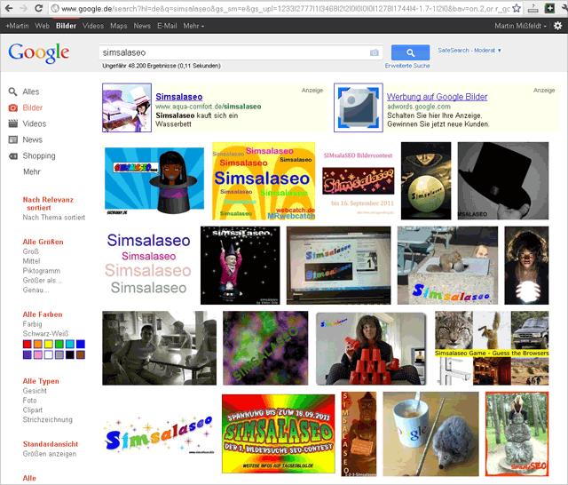 smsls: 2011-09-01- Browser Chrome im eingeloggten Zustand