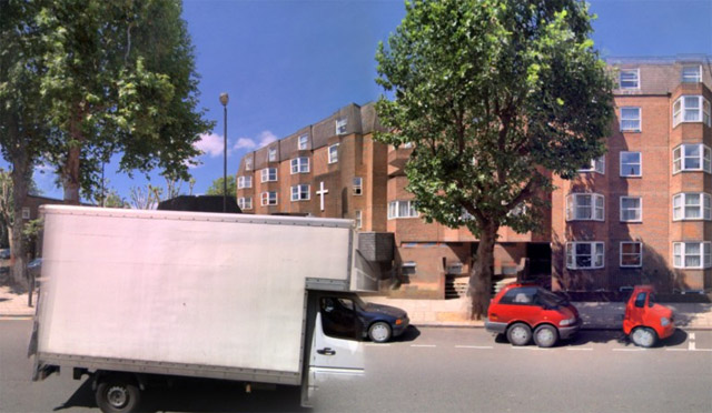 Funny streetside cars ...