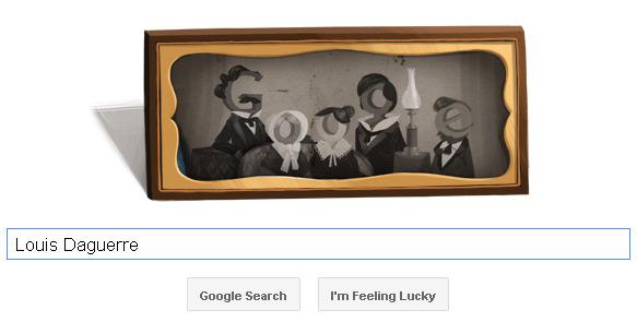 Louis Daguerre Google Doodle (17. November 2011)